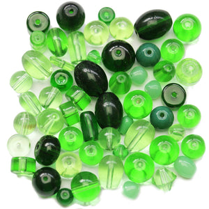 Green Glass Mix 4-12mm, approx.