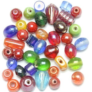 Bead, Beads, Glass, Glass Bead, Glass Beads, Mixed Beads, Mixed Bead, Assorted Beads, Assorted Bead, Multi, 6-14mm, approx., 6mm, 8mm, 10mm, 12mm, 14mm, Made in India
