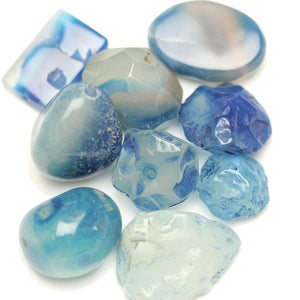 Aqua Dyed Agate Stone Nugget Mix 14-24mm , approx.