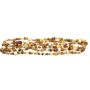 Bead, Beads, Glass, Glass Bead, Glass Beads, Mixed Beads, Mixed Bead, Assorted Beads, Assorted Bead, Amber, Topaz, Brown, 3-8mm, approx., 3mm, 4mm, 5mm, 6mm, 7mm, 8mm, Made in India