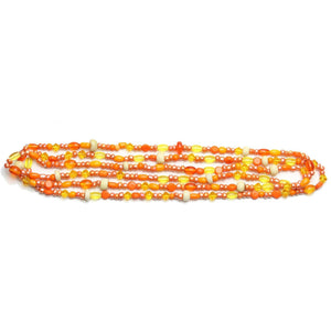 Bead, Beads, Glass, Glass Bead, Glass Beads, Mixed Beads, Mixed Bead, Assorted Beads, Assorted Bead, Orange Mix, 3-8mm, approx., 3mm, 4mm, 5mm, 6mm, 7mm, 8mm, Made in India