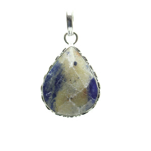 Sodalite Stone Faceted Teardrop Pendant 26x38mm  approx.Pendant by Bead Gallery