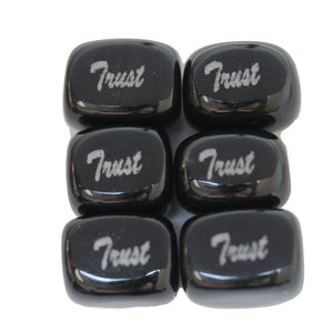 Trust on Black Dyed Dolomite Rectangle 13x18mm  - 4pcs