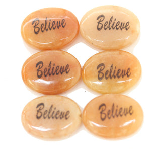 Believe on Red Jasper Oval 15x20mm  - 4pcsBeads by Halcraft Collection