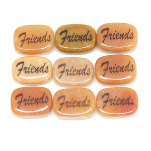 Friends on Red Jasper Oval 10x14mm - 6 piezas