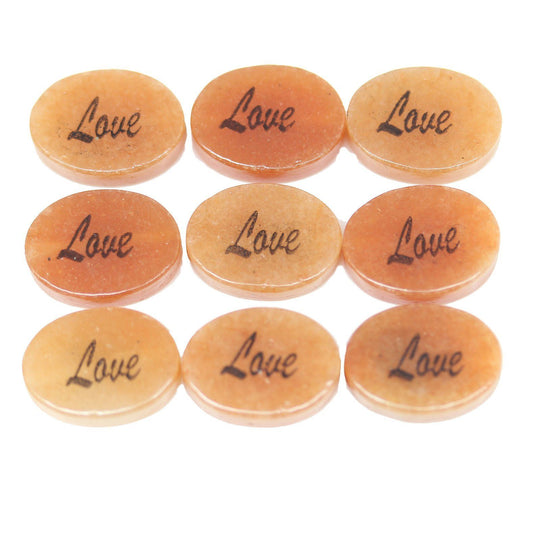 Love on Red Jasper Oval 10x14mm - 6 piezas