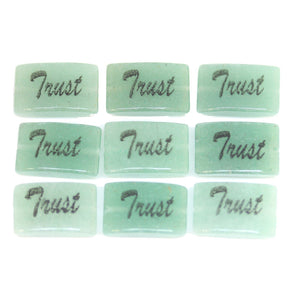 Trust one sided on Green Aventurine Rectangle 8x12mm  - 10pcs