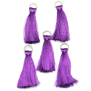 Purple Cotton Tassel 11x46mm  - 5pcs - Tassel by Bead Gallery