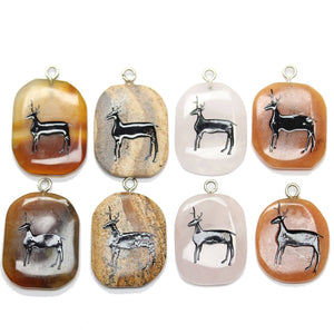 Stag on Stone Cave Painting BundlePendant by Halcraft Collection