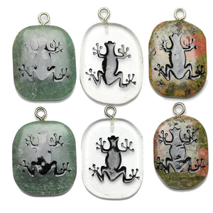 Tree Frog on Stone Cave Painting BundlePendant by Bead Gallery