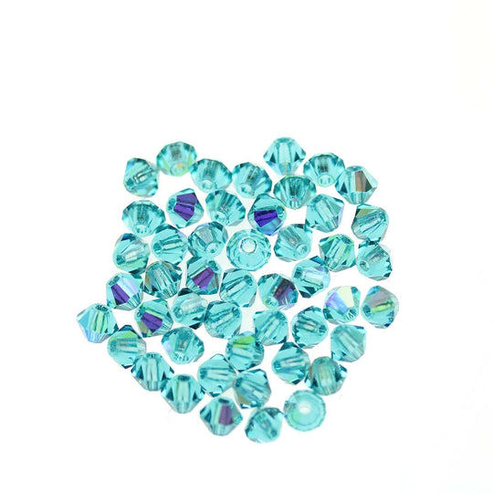 Preciosa Bicone 3mm  Blue Zircon AB