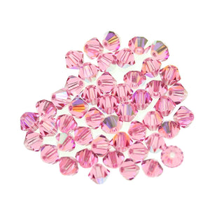 Preciosa Bicone 4mm  Rose AB