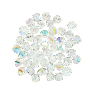 Preciosa Bicone 4mm  Crystal ABBeads by Halcraft Collection