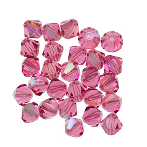 Preciosa Bicone 6mm  Rose ABBeads by Halcraft Collection