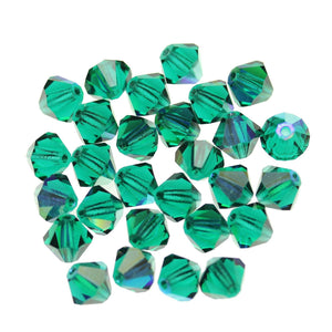 Preciosa Bicone 6mm  Emerald ABBeads by Halcraft Collection