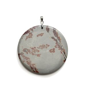 Colgante Picture Jasper gris piedra con motas de 44 mm de Halcraft Collection