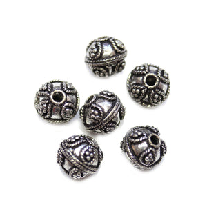 Silver Plated 12mm Bumpy Round Bali BeadsBeads by Halcraft Collection