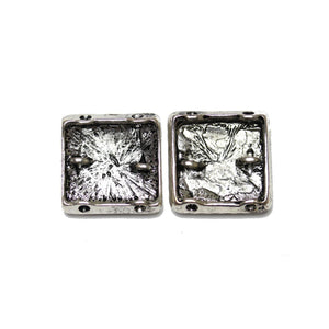 Silver Plated Square 22mm SliderSlider by Bead Gallery