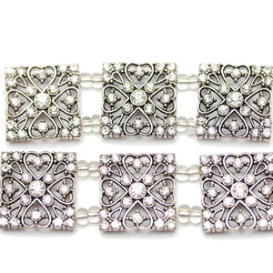 Crystal Silver Square SliderSlider by Bead Gallery