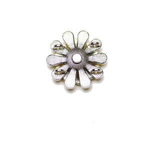 Yellow Enamel and Metal Flowers SliderSlider by Bead Gallery