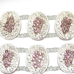 Pink and Purple Large Oval SliderSlider by Bead Gallery