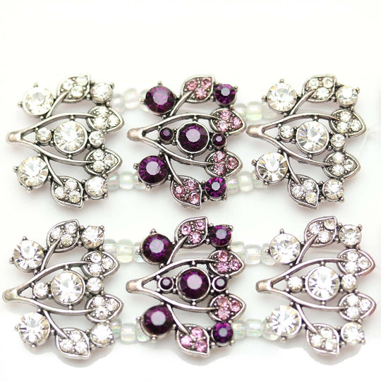 Purple and Crystal Floral SliderSlider by Halcraft Collection