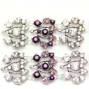 Purple and Crystal Floral SliderSlider by Bead Gallery