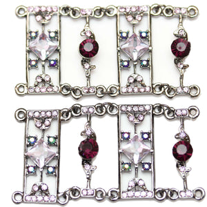 Metal Purple Rectangle SliderSlider por Bead Gallery