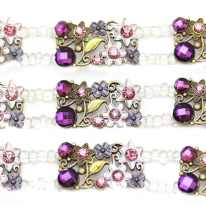 Purple Flower Metal SliderSlider por Bead Gallery
