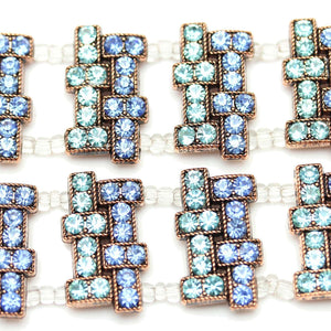 Aqua and Blue Bronze Mix SliderSlider by Bead Gallery