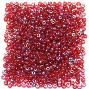 Bead, Beads, Czech, Czech Bead, Czech Beads, Glass, Glass Bead, Glass Beads, Round, Round Bead, Round Beads, Seed Bead, Seed Beads, Seed Czech Bead, Seed Czech Beads, AB, Dark Red, 6/0