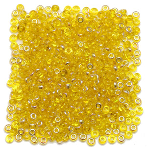 Bead, Beads, Czech, Czech Bead, Czech Beads, Glass, Glass Bead, Glass Beads, Round, Round Bead, Round Beads, Seed Bead, Seed Beads, Seed Czech Bead, Seed Czech Beads, AB, Yellow, 6/0