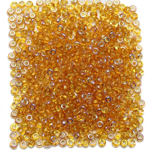 Bead, Beads, Czech, Czech Bead, Czech Beads, Glass, Glass Bead, Glass Beads, Round, Round Bead, Round Beads, Seed Bead, Seed Beads, Seed Czech Bead, Seed Czech Beads, AB, Light Amber, 6/0