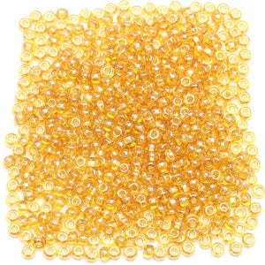 Czech Light Amber Luster 6/0 Seed Beads