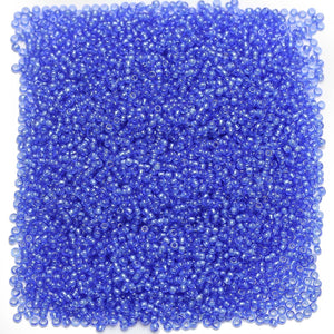 Czech Denim Blue Transparent Luster 11/0 Seed Beads