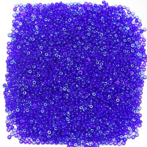 Czech Royal Blue Transparent AB 11/0 Seed Beads