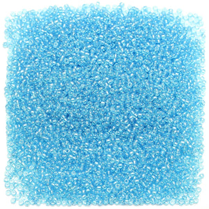 Czech Aqua Transparent Luster 11/0 Seed Beads