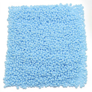 Czech Light Blue Opaque 11/0 Seed Beads