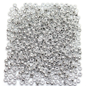 Bead, Beads, Czech, Czech Bead, Czech Beads, Glass, Glass Bead, Glass Beads, Round, Round Bead, Round Beads, Seed Bead, Seed Beads, Seed Czech Bead, Seed Czech Beads, Coated, Silver, 6/0
