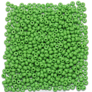 Bead, Beads, Czech, Czech Bead, Czech Beads, Glass, Glass Bead, Glass Beads, Round, Round Bead, Round Beads, Seed Bead, Seed Beads, Seed Czech Bead, Seed Czech Beads, Opaque, Light Green, 6/0