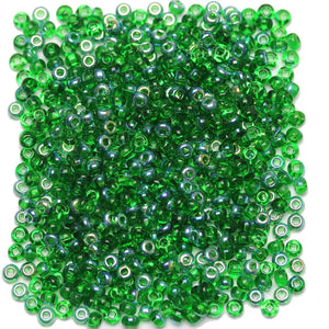 Bead, Beads, Czech, Czech Bead, Czech Beads, Glass, Glass Bead, Glass Beads, Round, Round Bead, Round Beads, Seed Bead, Seed Beads, Seed Czech Bead, Seed Czech Beads, Silver Lined, Green, 6/0