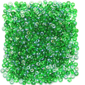 Bead, Beads, Czech, Czech Bead, Czech Beads, Glass, Glass Bead, Glass Beads, Round, Round Bead, Round Beads, Seed Bead, Seed Beads, Seed Czech Bead, Seed Czech Beads, AB, Green, 6/0