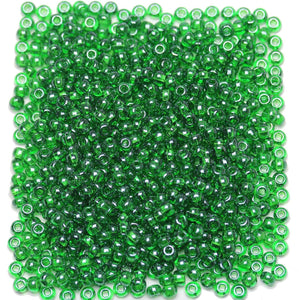 Bead, Beads, Czech, Czech Bead, Czech Beads, Glass, Glass Bead, Glass Beads, Round, Round Bead, Round Beads, Seed Bead, Seed Beads, Seed Czech Bead, Seed Czech Beads, Luster, Transparent, Green, 6/0