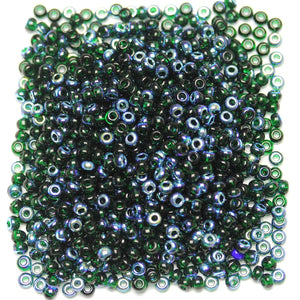 Bead, Beads, Czech, Czech Bead, Czech Beads, Glass, Glass Bead, Glass Beads, Round, Round Bead, Round Beads, Seed Bead, Seed Beads, Seed Czech Bead, Seed Czech Beads, AB, Dark Green, 6/0