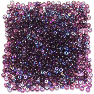 Bead, Beads, Czech, Czech Bead, Czech Beads, Glass, Glass Bead, Glass Beads, Round, Round Bead, Round Beads, Seed Bead, Seed Beads, Seed Czech Bead, Seed Czech Beads, AB, Dark Purple, 6/0
