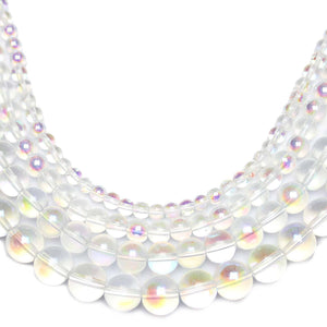 Multi-pack - Glass Beads Round Crystal AB finish (sizes 4mm , 6mm , 8mm , 10mm )