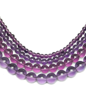Multi-pack - Glass Beads Round Lavender (sizes 4mm , 6mm , 8mm , 10mm )