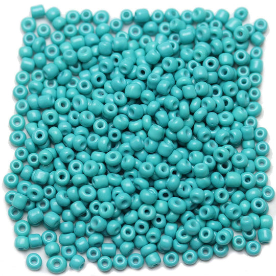 Aqua Opaque Chinese 6/0 E beadsBeads by Halcraft Collection