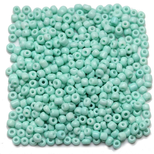 Light Aqua Opaque Chinese 6/0 E beadsBeads by Halcraft Collection
