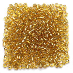 Gold Colored Chinese Silver Lined 6/0 E beadsBeads by Halcraft Collection